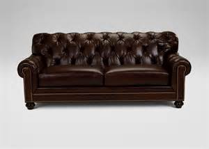 Ethan Allen Leather Sofa Chadwick Leather Sofa Ethan Allen