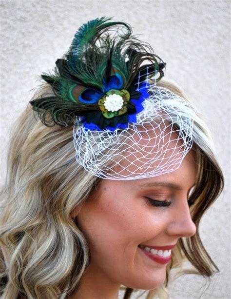 Wedding Hair Clip Veil by Peacock Hair Clip Veil Wedding Hair Clip Peacock Headband