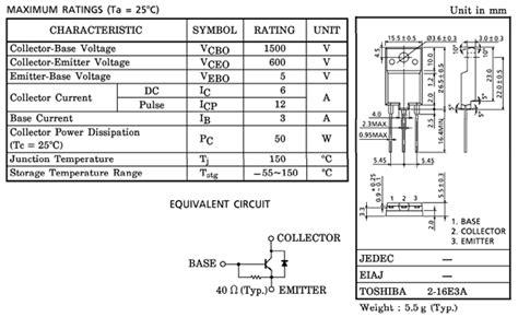 transistor d2499 datasheet d2499 datasheet vcbo 1500v npn transistor toshiba