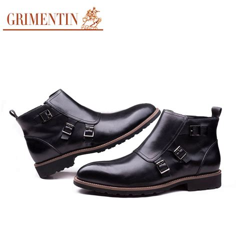 comfortable dress boots for men grimentin brand luxury zip mens ankle boots genuine