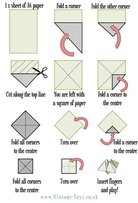 Folding Paper Fortune Teller - how to make an emotion fortune teller peppy pals