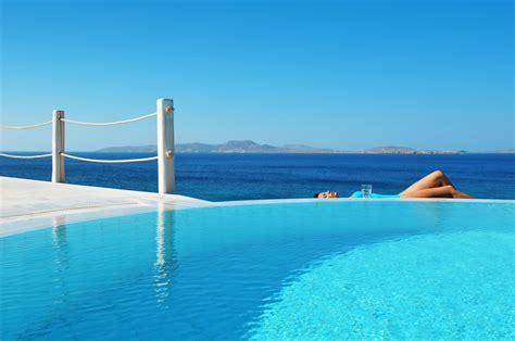 deluxe suite sea view  private pool mykonos grand