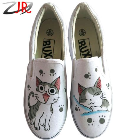 best shoes for boys with flat anime chi s cat shoes painted canvas shoes slip