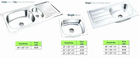 standard sink faucet size average kitchen sink size sink depth standard