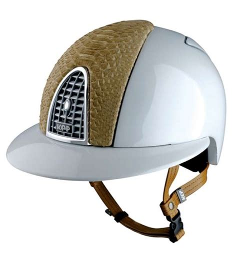 design your own kep helmet kep cromo polo helmet white with silver grill and patent