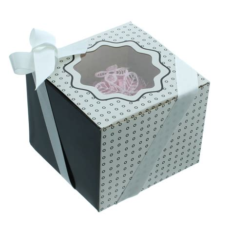 the cake decorating co single luxury satin cupcake box