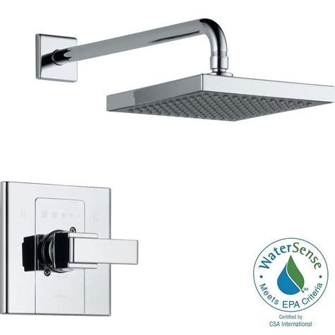 Delta Single Handle Shower Faucet Temperature Setting by Delta Arzo Single Handle 1 Spray Shower Faucet Trim Kit In