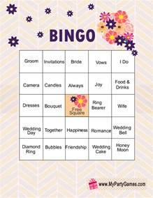 bridal shower bingo templates free printable bridal shower bingo cards
