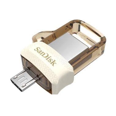 Jual Sandisk Usb 3 0 Ultra Dual Usb Drive Otg 64gb Garansi Resmi Jv8 jual original sandisk m3 0 gold edition ultra dual usb drive otg 32 gb usb 3 0 harga