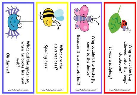 printable animal jokes minibeast jokes bookmarks