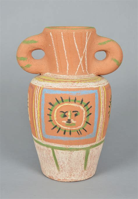 picasso paintings vase pablo picasso ceramic vase with pastel decoration vase au