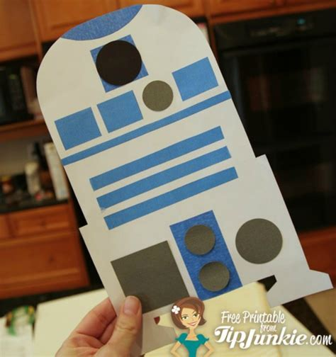 How To Make R2d2 Out Of Paper - wars r2 d2 droid paper craft free printable tip