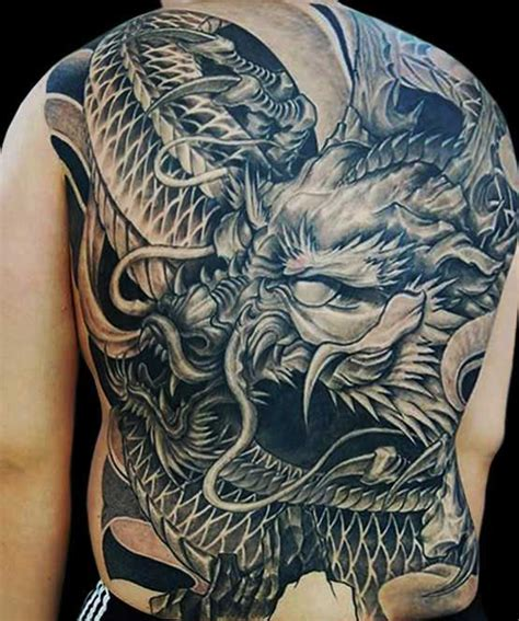 japanese dragon tattoo black and grey 33 full back japanese tattoos