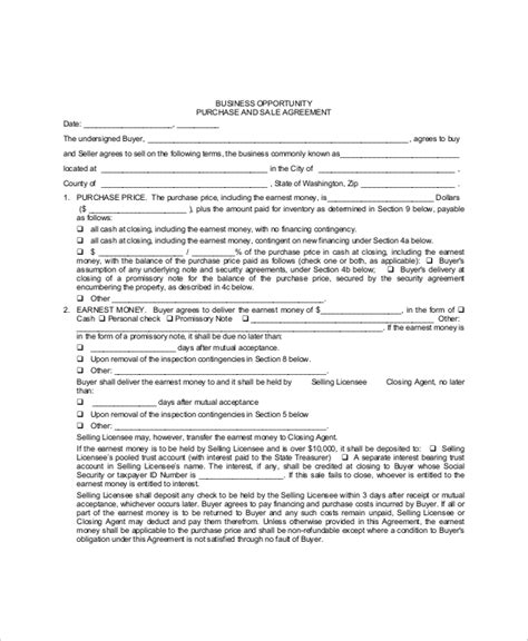 sle purchase agreement forms 10 free documents in pdf