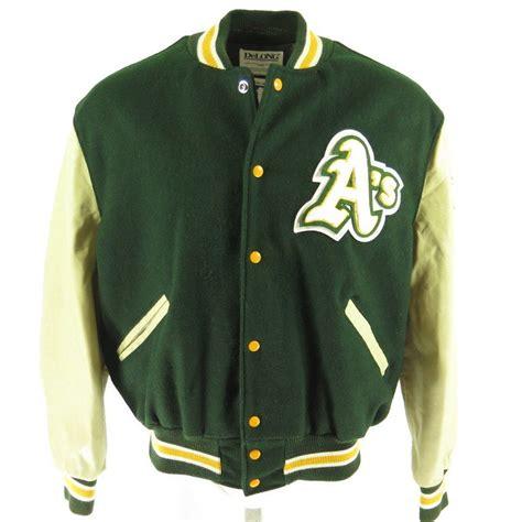 Jaket Sweater Jaket Clasic Basseball vintage 80s oakland athletics jacket mens 46 deadstock mlb baseball delong wool the clothing vault