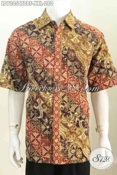 Gamis Batik Cap Jumbo kemeja batik jumbo pakaian batik pria gemuk bahan kain