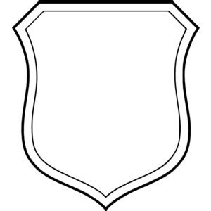 shield patch template white shield clipart best