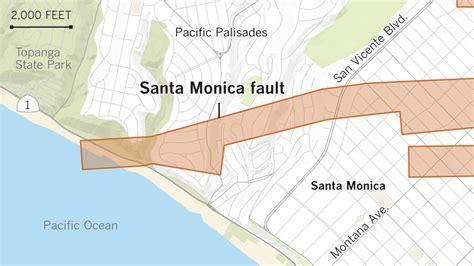 earthquake fault earthquake fault maps for beverly hills santa monica and