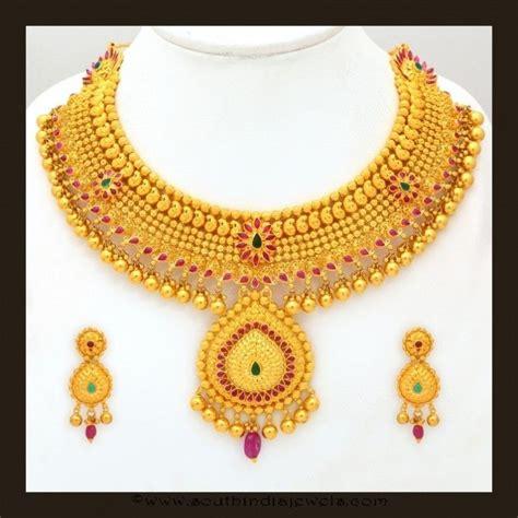 braut collier gold bridal attigai necklace set from vbj necklace