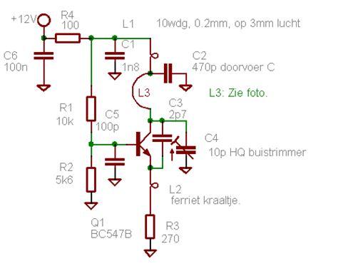 germanium diode oscillator vhf uhf oscillator met een bc547 forum circuits