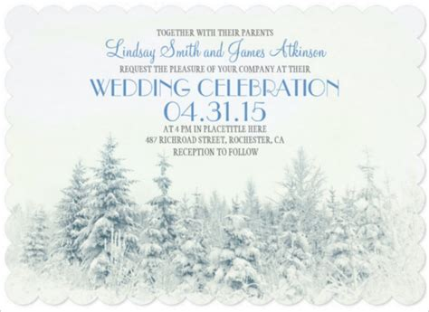 14 Winter Wedding Invitation Templates Sle Exle Format Download Free Premium Winter Wedding Invitation Templates Free