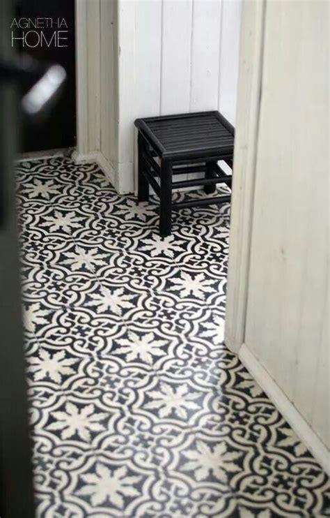 patterned hallway tiles black and white floor tiles black pinterest