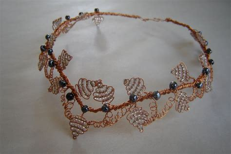 wire and bead jewelry wire and bead necklace by steunktigerlily on deviantart