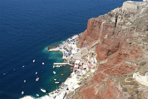 porto santorini santorini porto nella caldera viaggi vacanze e