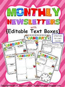 Sunday School Newsletter Templates by Editable Newsletters For Parent Communication