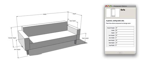 dimensions of sofa the nerdiest sofa shopping tool ever sketchup blog