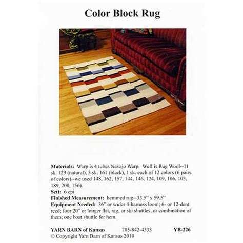 color block rug color block rug pattern leaflet yarn barn of kansas