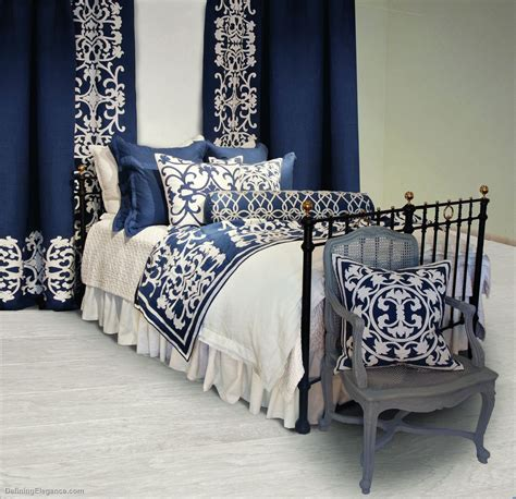 white comforter with blue accents navy striped bedding images