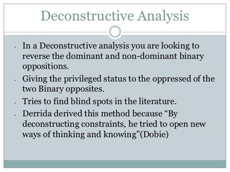 Deconstruction Essay by Literary Criticism Deconstruction