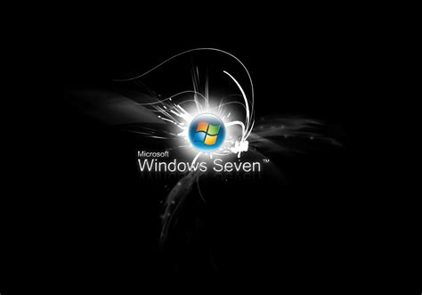 ecran noir bureau windows 7 fond d ecran windows 7 style wallpaper