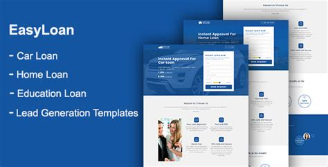 Easyloan Loan Company Website Templates By Onushorit Themeforest Loan Website Templates