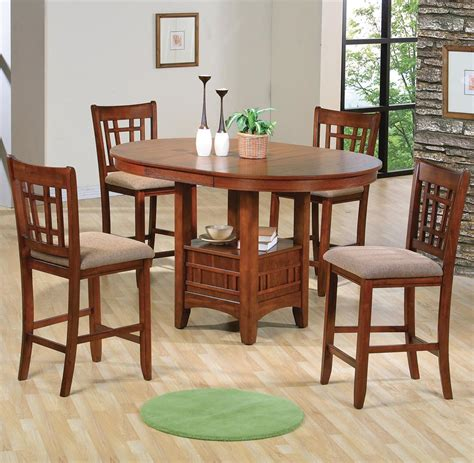 counter height dining table and chairs crown mark empire counter height dining table and chair