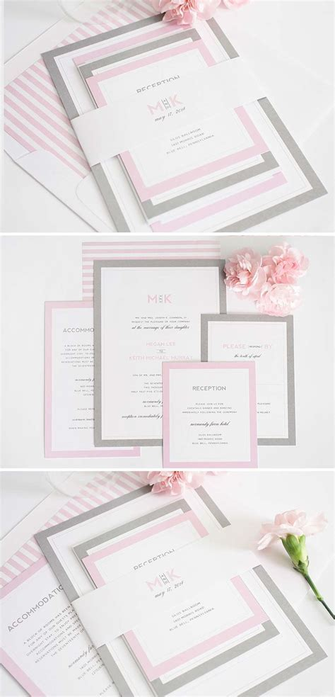 Best 25  Grey wedding invitations ideas on Pinterest