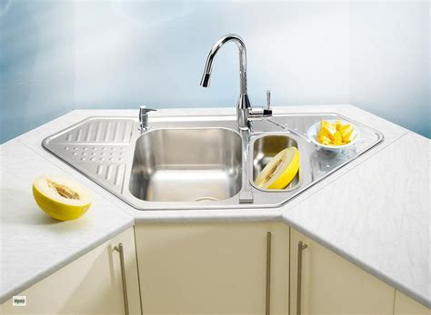 Corner Sink Kitchen With Attractive Layout To Tweak Your Corner Sinks For Kitchens