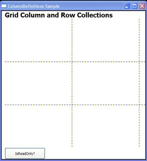 xaml dynamic layout remove one column grid 171 windows presentation foundation