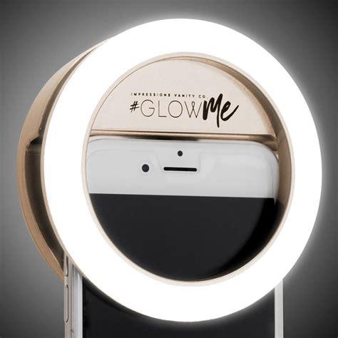Led Selfie impressions vanity glowme 2 0 led selfie ring light for mobile devices impressions vanity co
