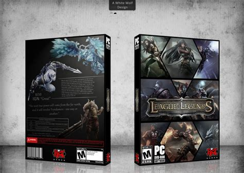 league of legends pc box cover by white wolf