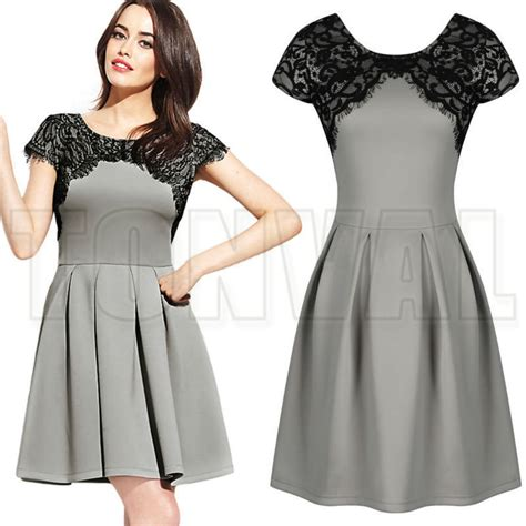 hairstyles for casual dresses vestidos women casual dress ladies floral lace ol offices