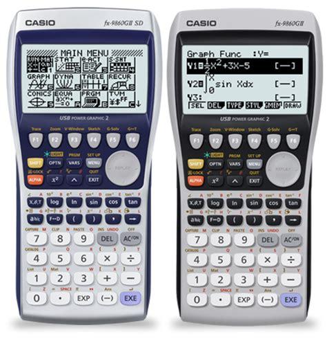 Kalkulator Casio Seri Financial fx 9860gii sd fx 9860gii graphic models products