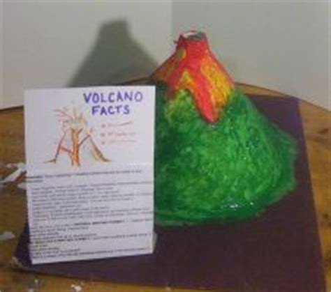 How To Make A Volcano Out Of Paper Mache - this is a fast and easy volcano to make because it uses
