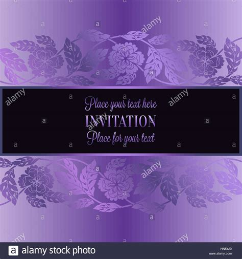 floral background with antique luxury lilac violet