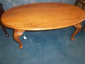 Oval Oak Coffee Table Oval Solid Oak Coffee Table The Jackpot New Used Furniture