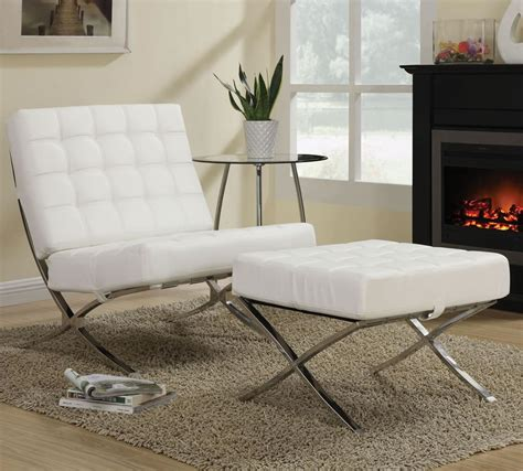 modern chair with ottoman cheap kock off barcelona chair in white