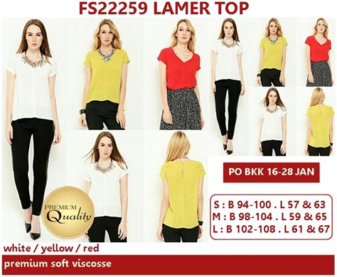 Top Atasan Hongkong Ready Premium Quality lamer top supplier baju bangkok korea dan hongkong