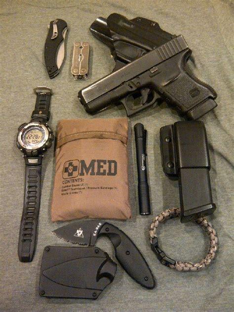 Kapak Survival Kit Edc Devense Black my edc glock 30 in a blade tech eclipse owb w spare