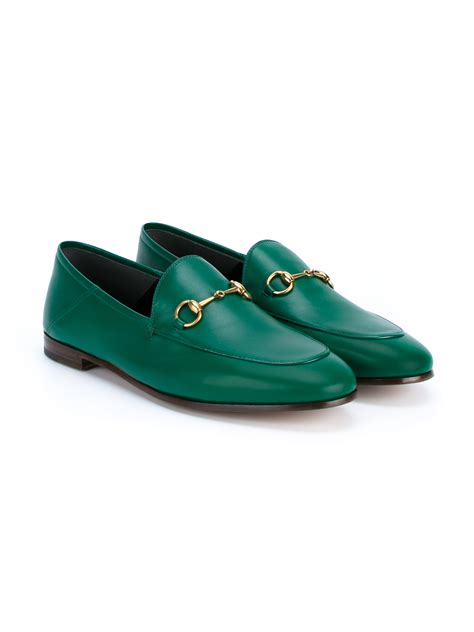 F Gucci Heritage Flats 50422 lyst gucci jordaan loafers in green